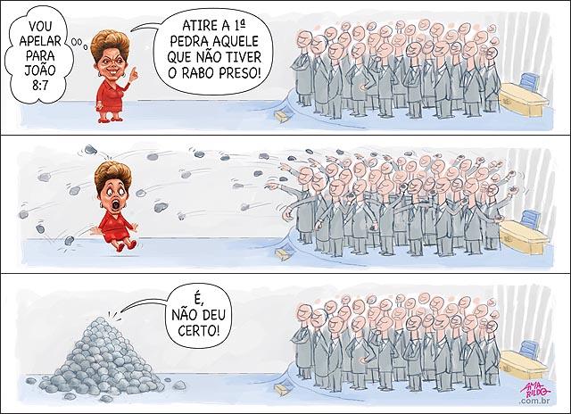 Dilma cristo jesus atire a primeira pedra quem nao tiver rabo preso senado senadores impeachment aprovado relatorio B