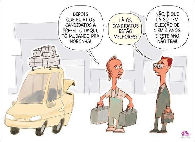 Fernando de noronha eleicao 4 em 4 anos mudanca carro malas voto prefeito