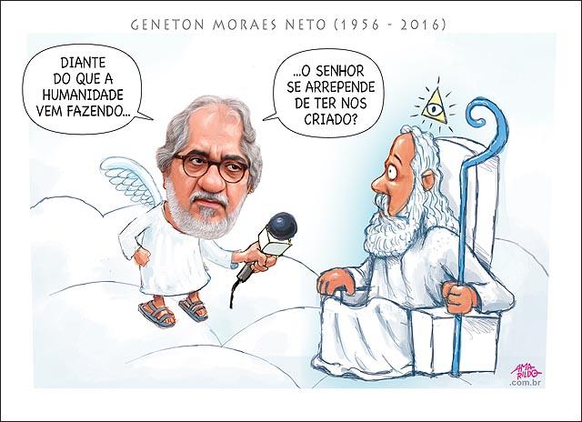 Morre Geneton Moraes Neto Ceu entrevista exclusiva com deus Nuvem