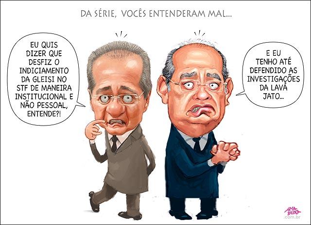Gilmar mendes Renan nao foi isso que eu quis dizer voces entenderam mal apoio lava jato nao desfiz indiciamento no stf impeachment congresso