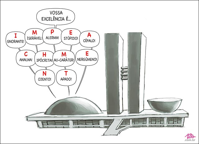 Dilma IMPEACHMENT congresso xingamentos formando a palavra