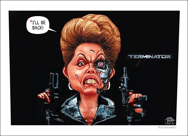 Dilma et exterminador do futuro eu voltarei i will be back pedalada bicicleta ceu lua