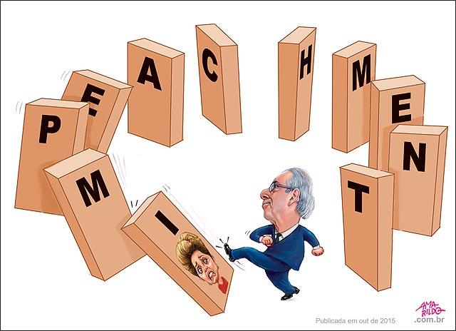 Cunha chuta domino impeachment dilma ou 2015