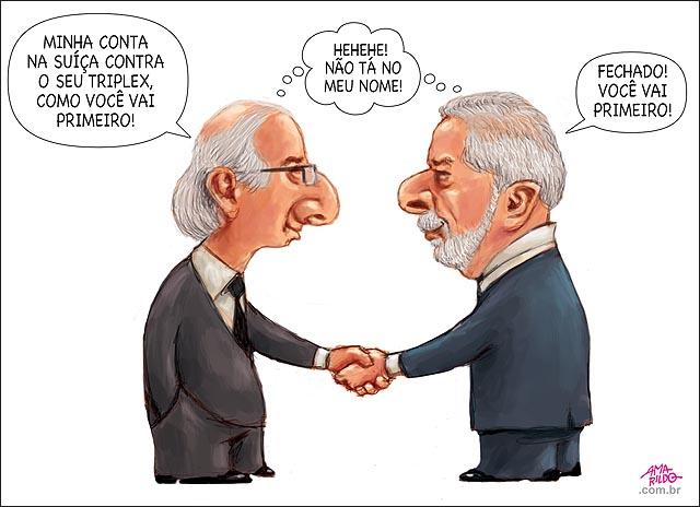 Lula x Cunha aposta quem vai ser preso primeiro aposta a minha propina contra a sua 6