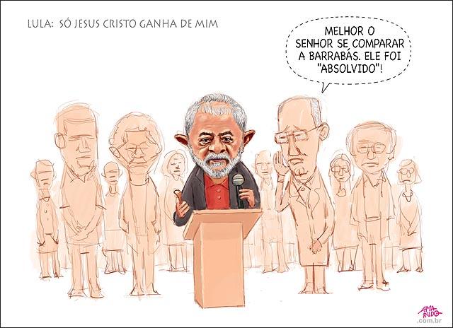 Lula Discurso Moro precesso reu denunciado jesus cristo barrabas absollvido PT Justica Ruy Falcao
