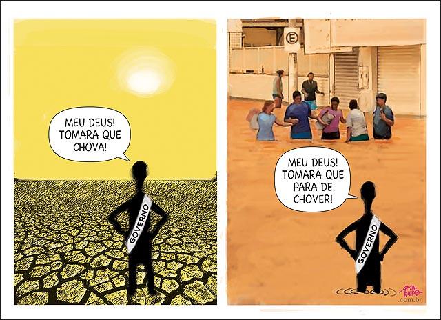 Chuva seca Governo tamara que chova pare enchente