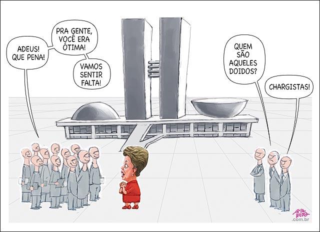 Dilma adeus congresso vamos sentir falta chargistas tristes