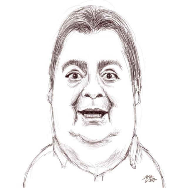 Sketch direto no meu note/tablet Sony- Faustão #faustão #faustosilva #globo #redeglobo #tv #caricatura #draw #painting #desenho #cartoon