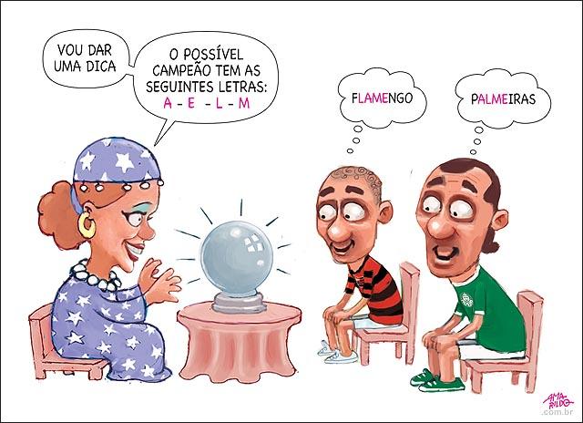 Previsao futuro Cigana Flamengo Palmeiras Campao brasileiro futebol dica letras