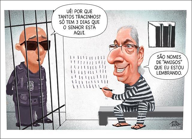 Resultado de imagem para prisão em curitiba charge