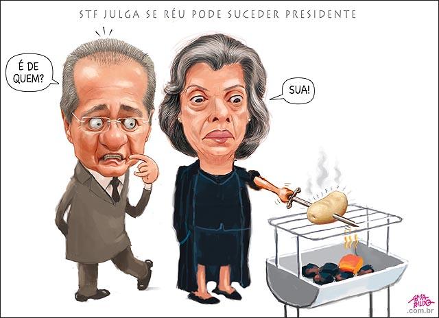 Renan Carme Lucia Batata assando churrasqueira julgamento veto a reus na presidencia