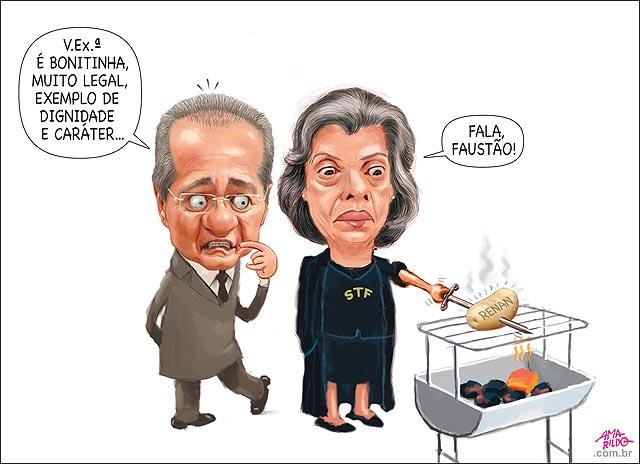 Renan Elogiando Carmem Lucia Batata assando churrasqueira julgamento veto a reus na presidencia Faustao domingao