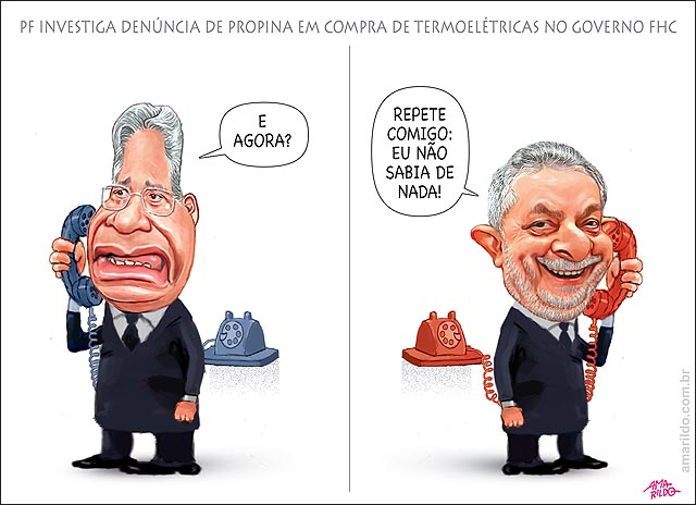 FHC telefone Lula PF investiga desvio em compra de termoeletricas no governo FHC nao sei de nada