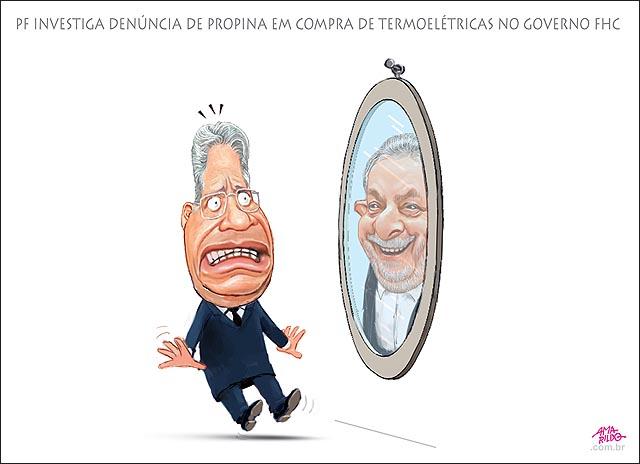FHC Lula espelho PF investiga desvio em compra de termoeletricas no governo FHC