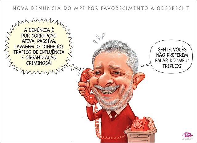 Lula denunciado por corrupcao ativa passiva lavegem de dinheiro  trafico de influencia e organizacao criminosa Odebrecht