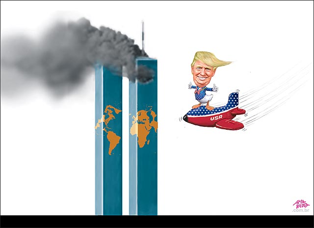 Trump presidente eua world trade center aviao atentado terra planeta