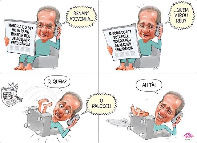 Renan stf aprova reu nao pode suceder presidente renan sofa caindo lendo jornal palloci vira reu