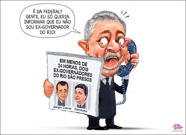 Lula telefone PF nao sou ex dois ex-governadores do rio sao presos gaotinho e sergio cabral propina corrupcao jornal tv