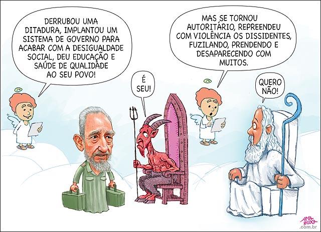 Fidel morte ceu inferno deus diabo Cuba eua usa socialismo comunismo revolucao educacao saude guerrilha execucao