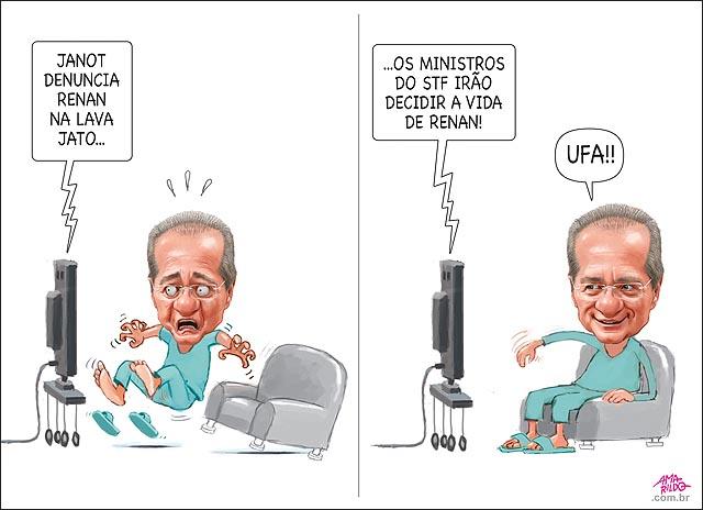 JANOT DENUNCIA RENAN NA LAVA JATO ministros do stf decidem se le vira reu tv susto ufa
