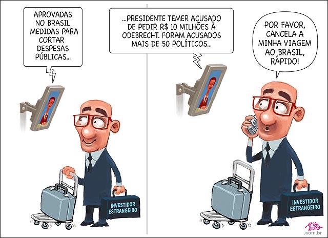 Investidor estrangeiro tv noticias temer mais 50 delacao odebrecht propina caixa dois brasilia senado congresso camara aprova pec teto