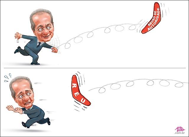 Renan joga bumerangue boomerangue abuso autoridade pacote anticorrupcao