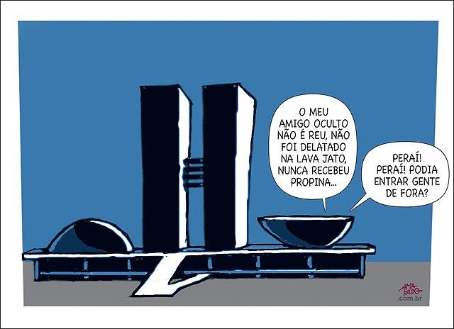 Congresso camara Amigo Oculto Honesto de fora lava jato propina corrupto