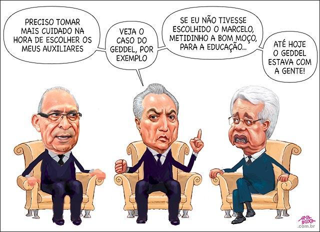 Temer reuniao cadeira sofa sala presidente Moreira Franco Eliseu padilha