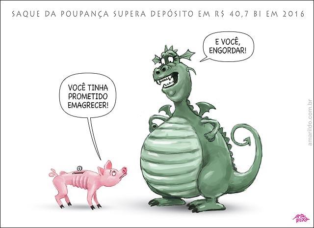 Saque da poupança supera deposito em R$ 40 bi em 2016 inflacao gorda porco magro promessas de ano novo