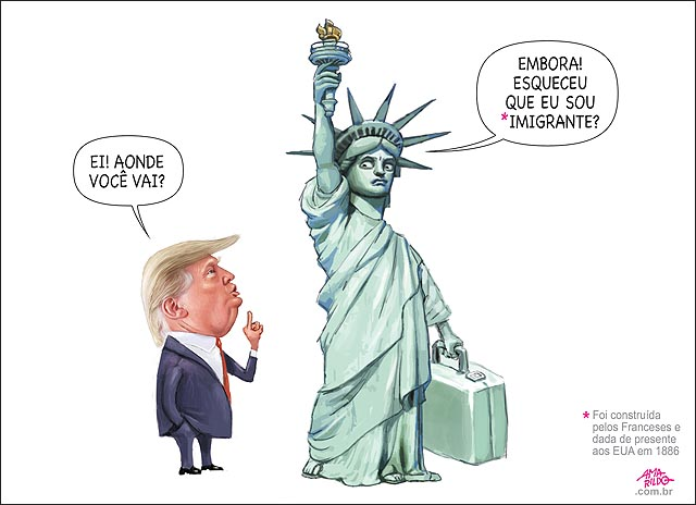 Estatua da liberdade indo embrora por que e imigrante francesa trump