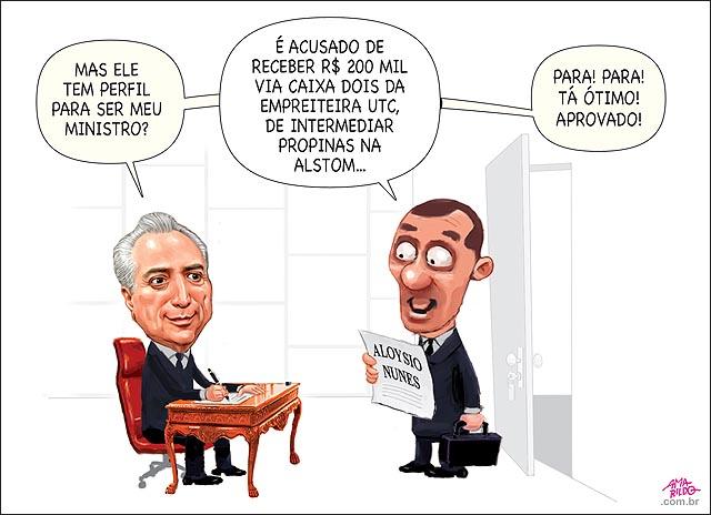 Aloysio Nunes Ministro das relacoes exteriores temer perfil propina petrobras alstom utc aprovado B