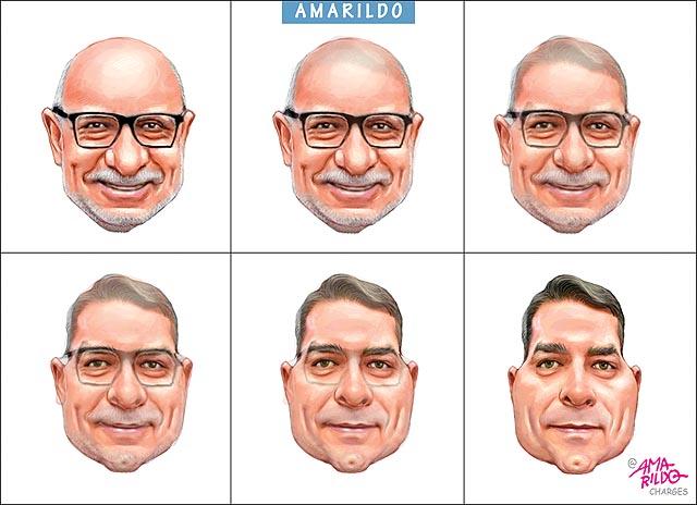 Flávio Bolsonaro, Queiroz e a metamorfose | BLOG DO AMARILDO . CHARGE CARICATURA