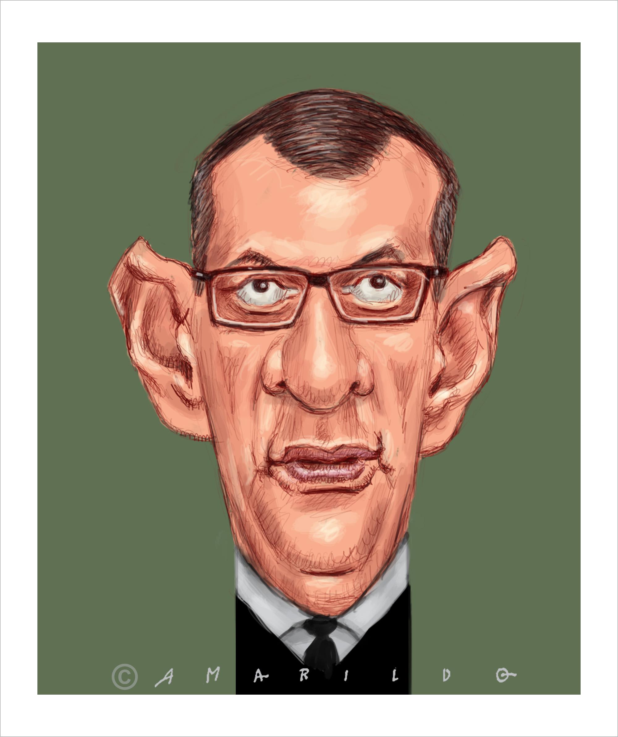 Caricatura: Rêgo Barros. . Exonerado do cargo de porta-voz da Presidência (extinto). #regobarros #exonerado #portavoz #presidenciadarepublica #bplsonaro #general